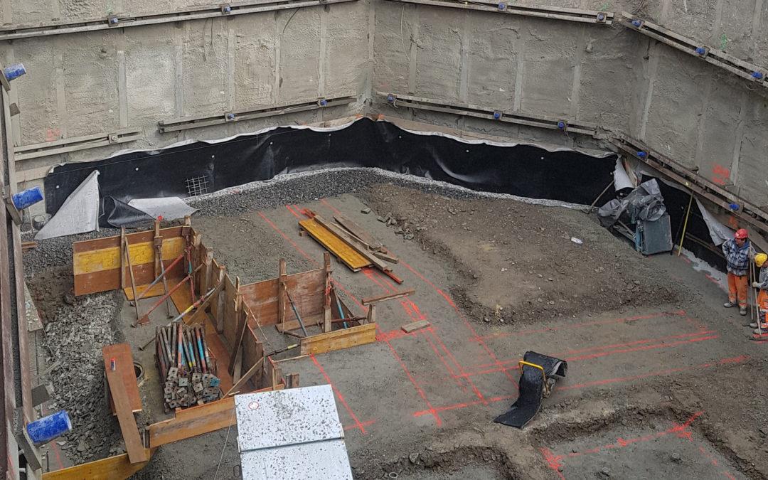 Achèvement du terrassement et des travaux spéciaux