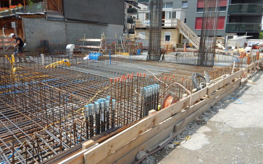 Construction d'un immeuble de logements et de commerces