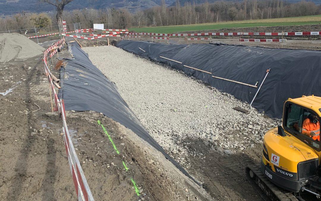 Construction d'un passage inférieur